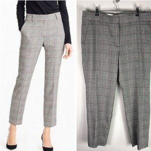 J. Crew Plaid Cropped Pants Tailored Lady Glen